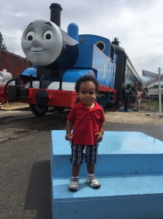 This is the actual train used for the Thomas the Tank Engine ride. The took pictures in front of it which you could purchase - they also allowed you to take photos with your cell phone